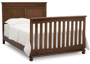 Delta Children Antique Chestnut (2100) Fontana 4-in-1 Convertible Crib (W337350) Full Bed Conversion, c6c