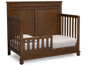 Delta Children Antique Chestnut (2100) Fontana 4-in-1 Convertible Crib (W337350) Toddler Bed Conversion, c4c