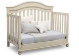 Delta Children Antique White (122) Bristol 4-in-1 Convertible Crib (W337450) Day Bed Conversion, a5a