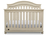 Delta Children Antique White (122) Bristol 4-in-1 Convertible Crib (W337450) Front Facing Silo, a2a