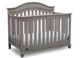 Delta Children Storm (161) Bristol 4-in-1 Convertible Crib (W337450) Right Facing Silo, b3b