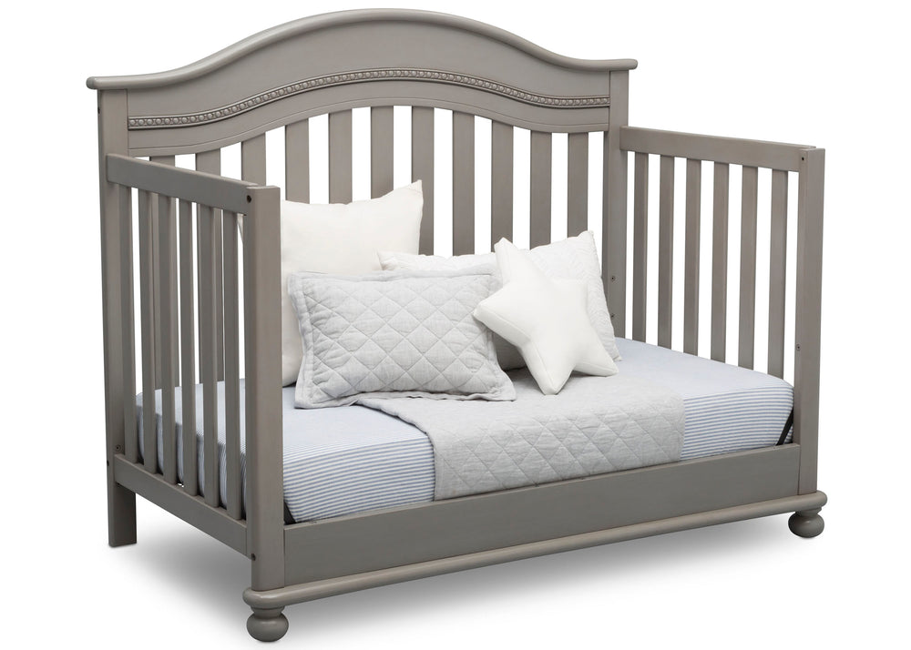 Delta Children Storm (161) Bristol 4-in-1 Convertible Crib (W337450) Day Bed Conversion, b5b