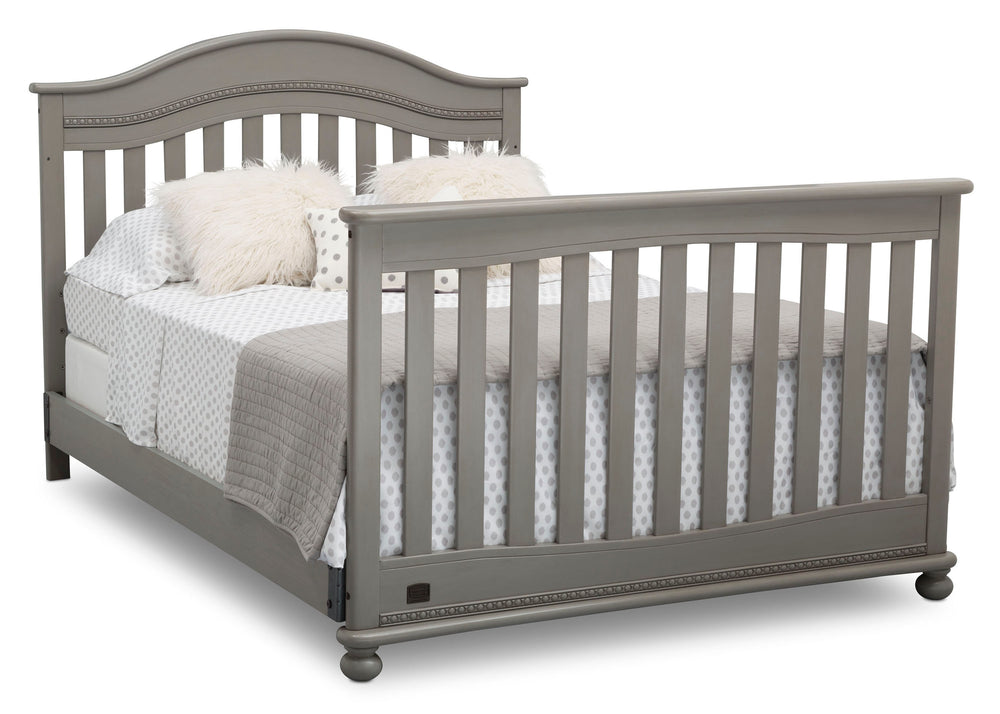 Delta Children Storm (161) Bristol 4-in-1 Convertible Crib (W337450) Full Bed Conversion, b6b
