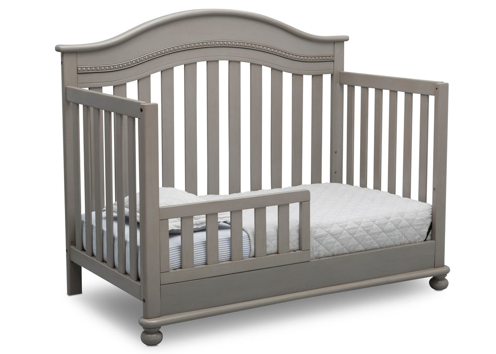Delta Children Storm (161) Bristol 4-in-1 Convertible Crib (W337450) Toddler Bed Conversion, b4b