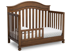 Delta Children Antique Chestnut (2100) Bristol 4-in-1 Convertible Crib (W337450) Toddler Bed Conversion, c4c
