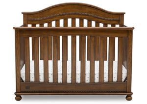 Delta Children Antique Chestnut (2100) Bristol 4-in-1 Convertible Crib (W337450) Front Facing Silo, c2c