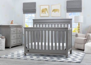 Delta Children Storm (161) Franklin 4-in-1 Convertible Crib (W337650) Room View, b1b