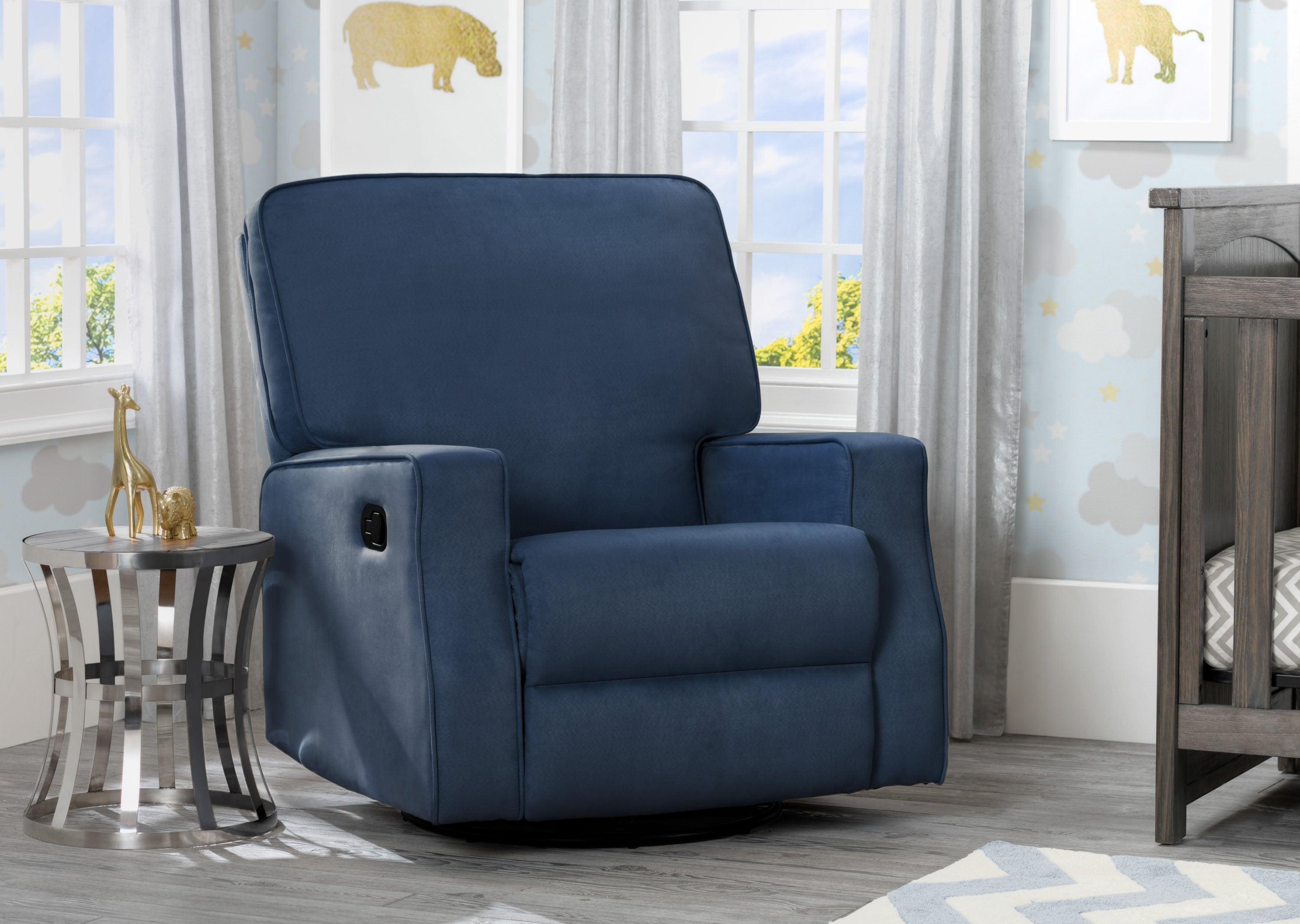 kitchen club fabric dark chair navy amazon dp declan recliner blue dining com