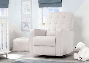 Delta Children Linen (150) Graham Nursery Glider Swivel Recliner, Room View