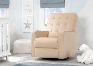 Delta Children Sisal (727) Graham Nursery Glider Swivel Recliner, Room View