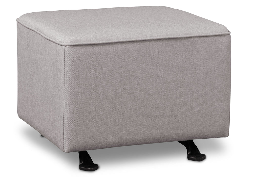 Delta Children French Grey (1304) Reston Nursery Gliding Ottoman (W501320), Right Angle, e2e