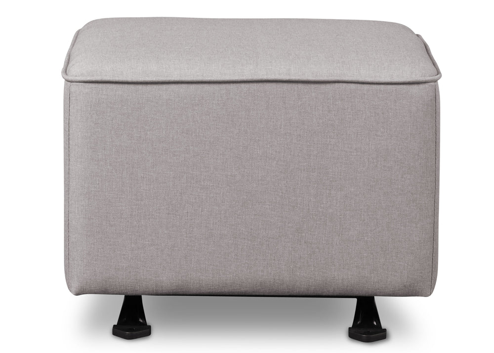 Delta Children French Grey (1304) Reston Nursery Gliding Ottoman (W501320), Straight, e3e