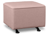 Delta Children Blush (636) Reston Nursery Gliding Ottoman (W501320), Right Angle, b2b