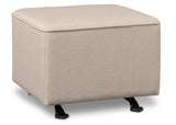 Delta Children Flax (710) Reston Nursery Gliding Ottoman (W501320), Right Angle, c2c