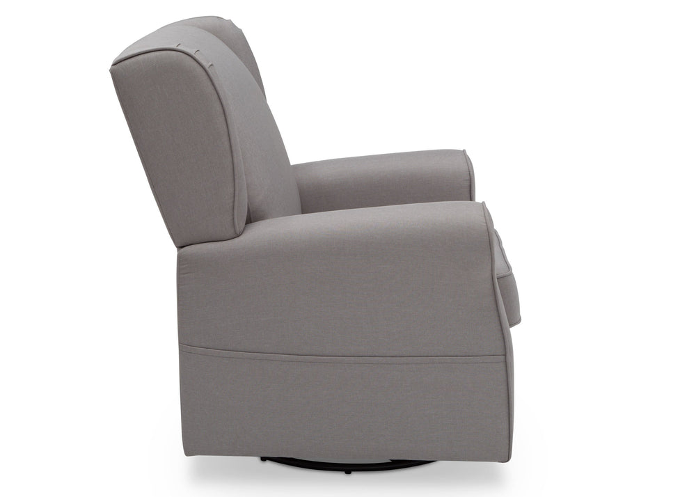 Delta Children French Grey (1304) Reston Nursery Glider Swivel Rocker Chair (W512310), Right Side, e4e