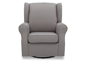 Delta Children French Grey (1304) Reston Nursery Glider Swivel Rocker Chair (W512310), Front, e2e