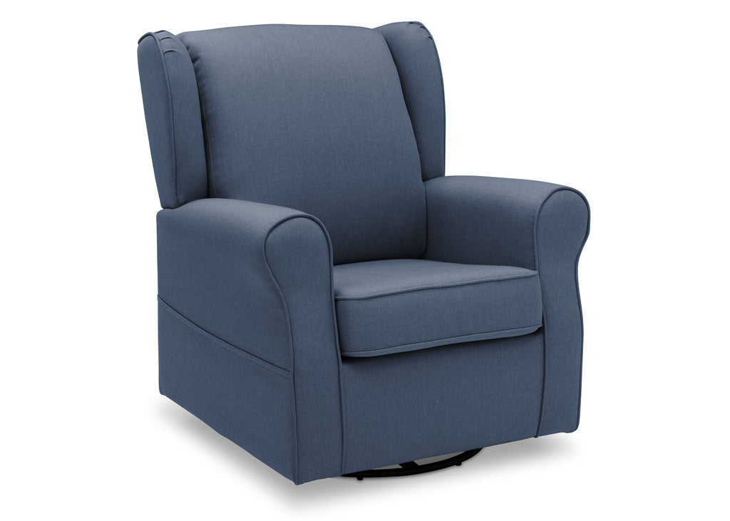 Delta Children Sailor Blue (424) Reston Nursery Glider Swivel Rocker Chair (W512310), Right Angle, a3a