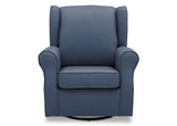 Delta Children Sailor Blue (424) Reston Nursery Glider Swivel Rocker Chair (W512310), Front, a2a