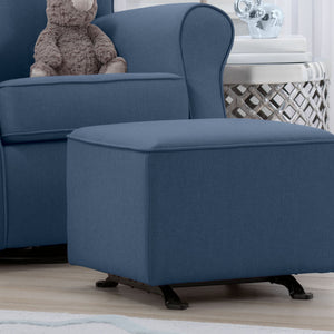 Delta Children Sailor Blue (424) Reston Nursery Gliding Ottoman (W501320), Room, a1a