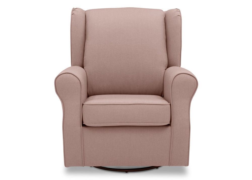 Delta Children Blush (636) Reston Nursery Glider Swivel Rocker Chair (W512310), Front, b2b