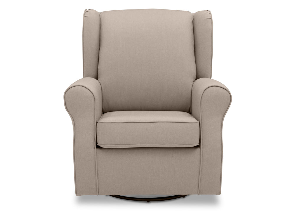 Delta Children Flax (710) Reston Nursery Glider Swivel Rocker Chair (W512310), Front, c2c