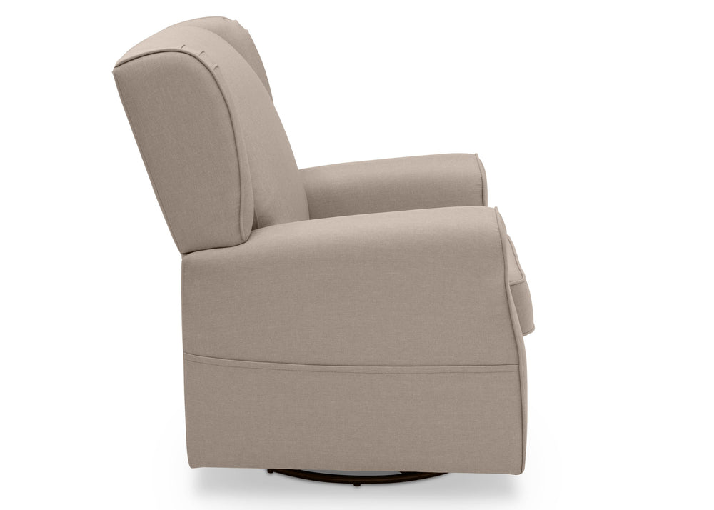 Delta Children Flax (710) Reston Nursery Glider Swivel Rocker Chair (W512310), Right Side, c4c