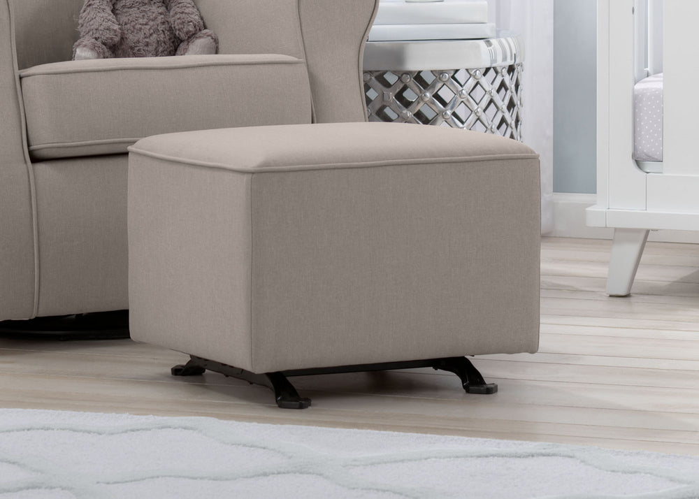 Delta Children Flax (710) Reston Nursery Gliding Ottoman (W501320), Room, c1c