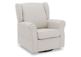 Delta Children Cream (743) Reston Nursery Glider Swivel Rocker Chair (W512310), Right Angle, d3d