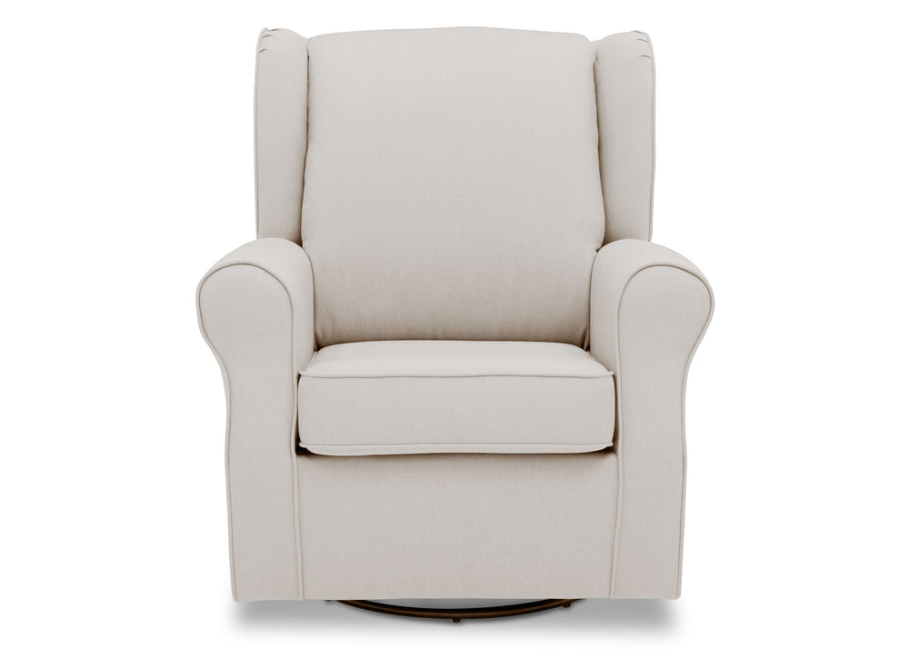 Delta Children Cream (743) Reston Nursery Glider Swivel Rocker Chair (W512310), Front, d2d