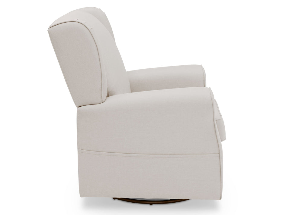 Delta Children Cream (743) Reston Nursery Glider Swivel Rocker Chair (W512310), Right Side, d4d