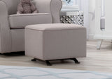 Delta Children French Grey (1304) Reston Nursery Gliding Ottoman (W501320), Room, e1e