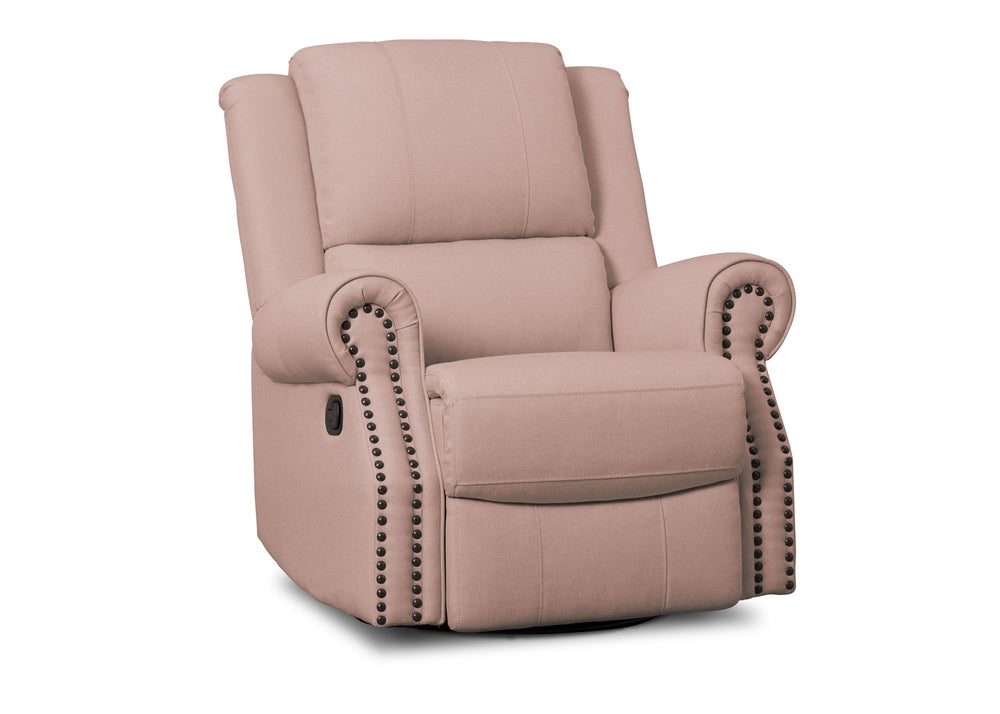 Delta Children Blush (636) Drake Nursery Recliner Swivel Glider Chair (W3524310C), Right View, a2a
