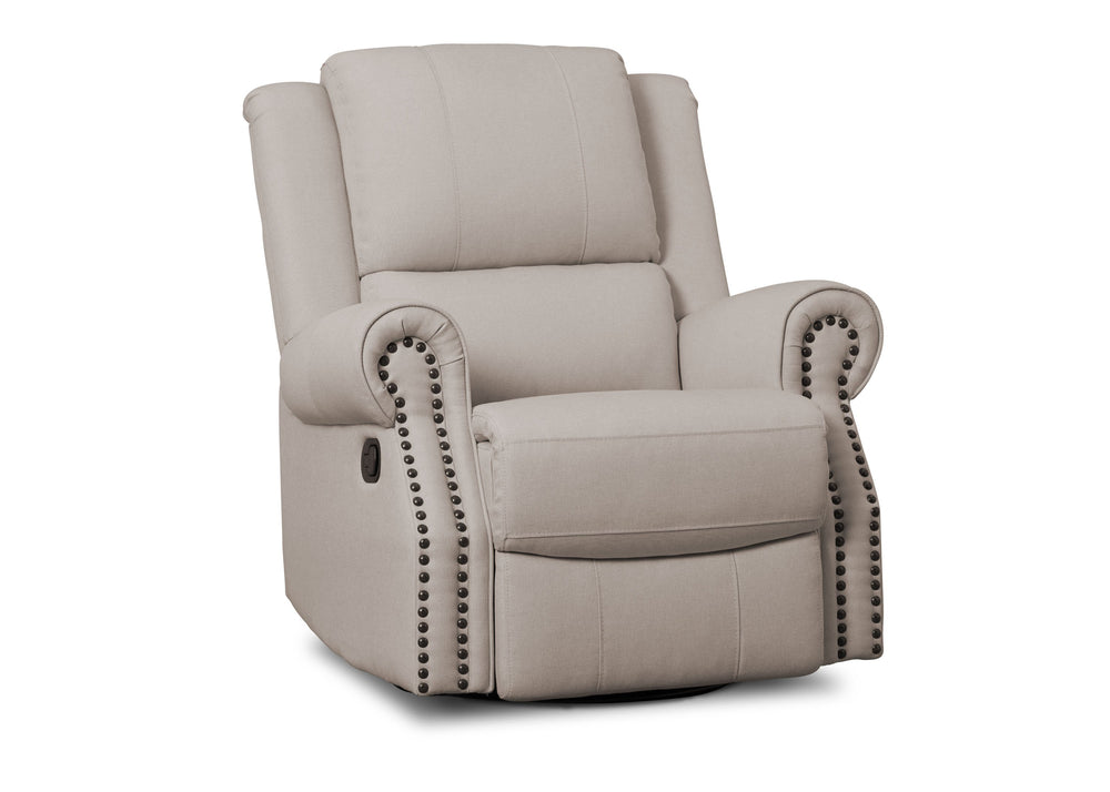 Delta Children Flax (710) Drake Nursery Recliner Swivel Glider Chair (W3524310C), Right View, b2b