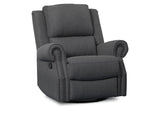 Delta Children Charcoal (931) Drake Nursery Recliner Swivel Glider Chair (W3524310C), Right View, c2c