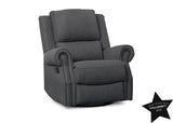 Delta Children Charcoal (931) Drake Nursery Recliner Swivel Glider Chair (W3524310C), With Seal, c5c