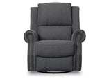 Delta Children Charcoal (931) Drake Nursery Recliner Swivel Glider Chair (W3524310C), Front View, c3c