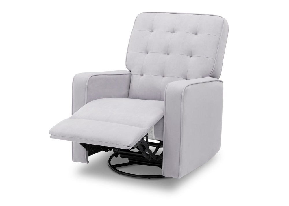 Delta Children Linen (150) Gavin Nursery Glider Swivel Recliner, Left Reclined Silo View