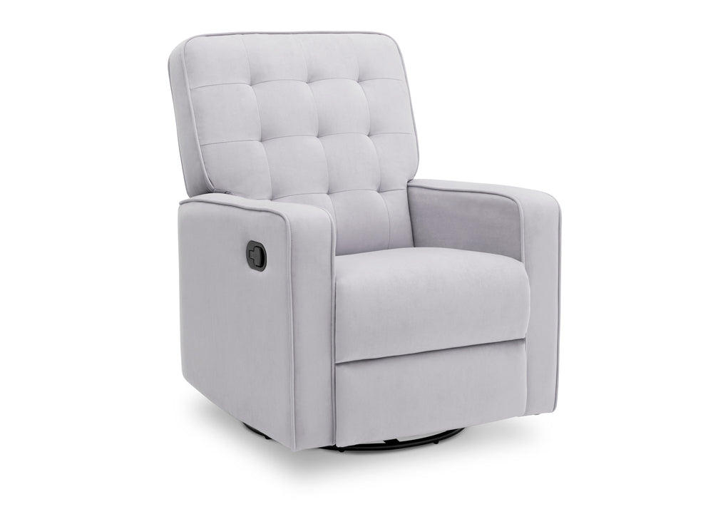 Delta Children Linen (150) Gavin Nursery Glider Swivel Recliner, Right Silo View