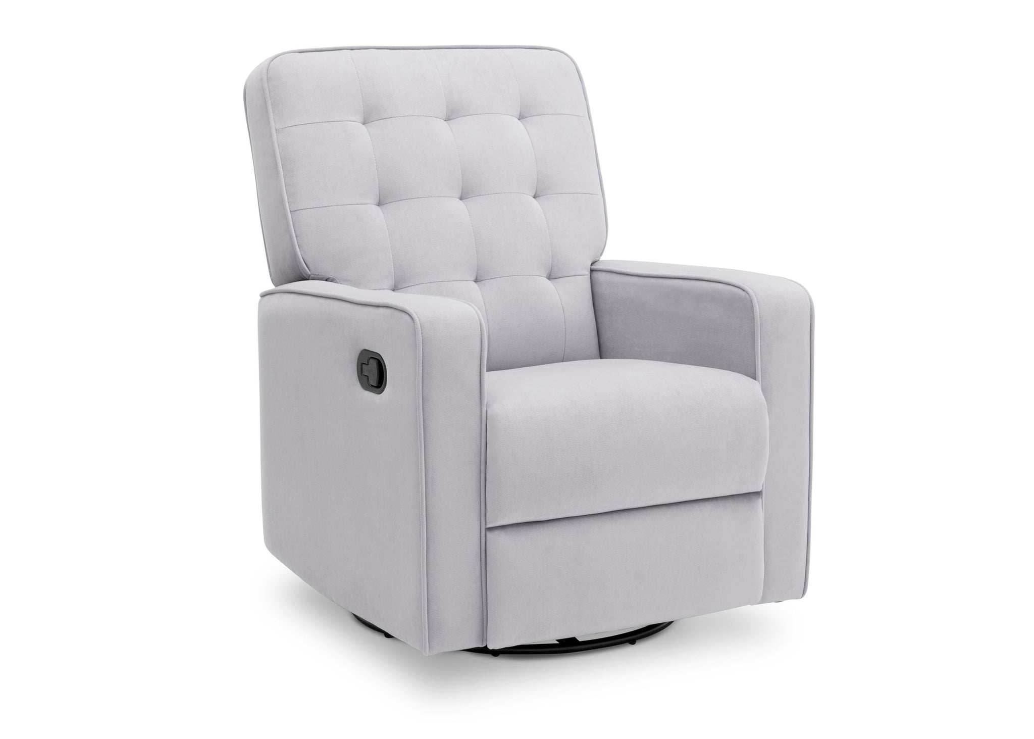 Delta Children Linen (150) Graham Nursery Glider Swivel Recliner, Right Silo View