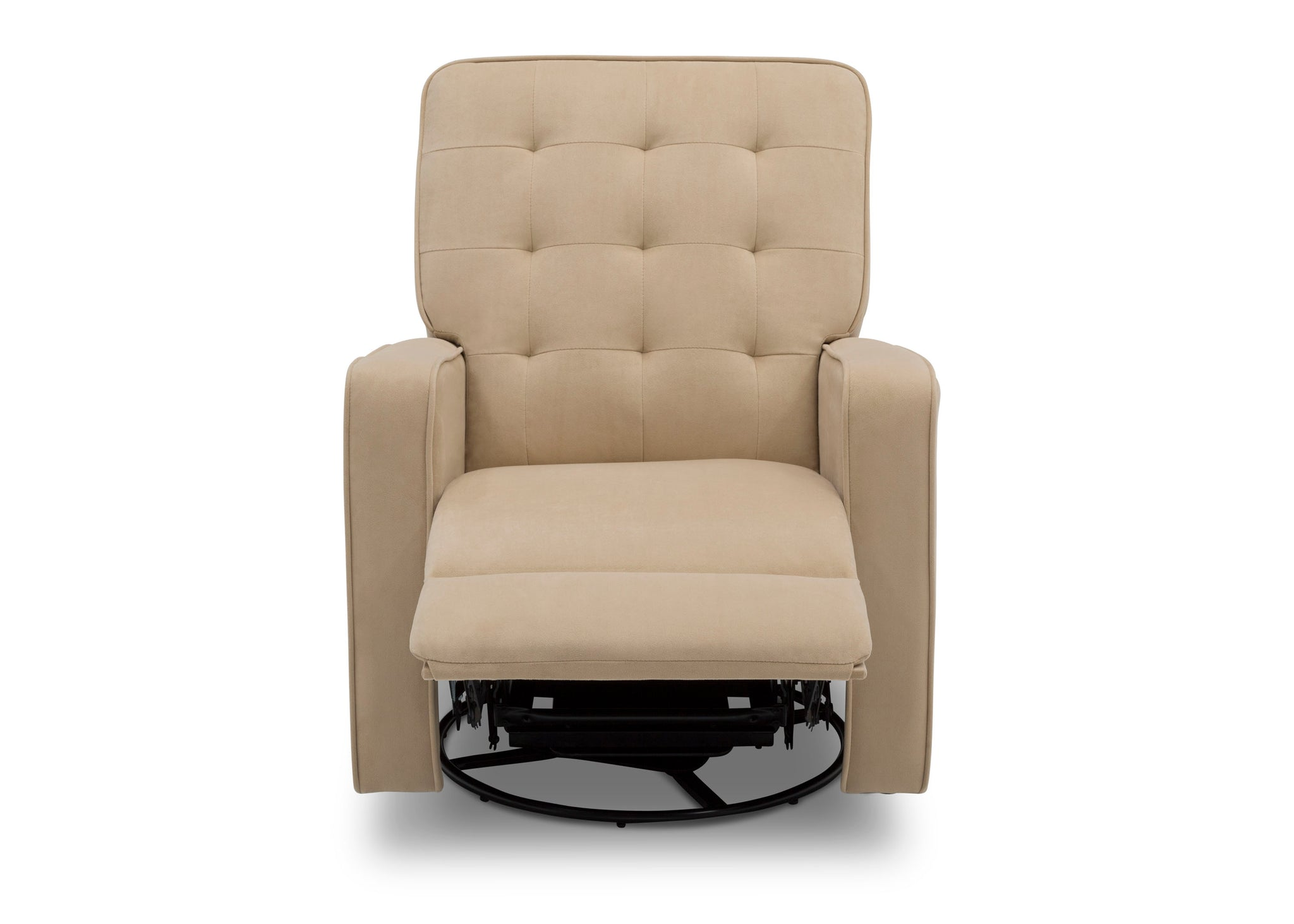 Delta Children Sisal (727) Graham Nursery Glider Swivel Recliner, Front Reclined Silo View