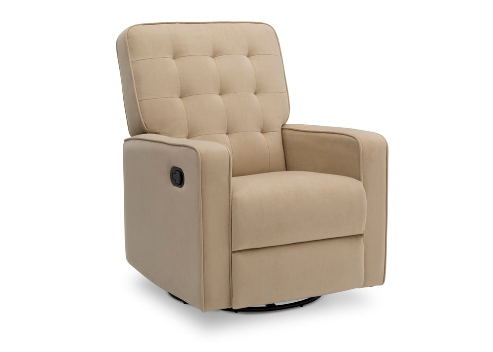 Delta Children Sisal (727) Gavin Nursery Glider Swivel Recliner, Right Silo View