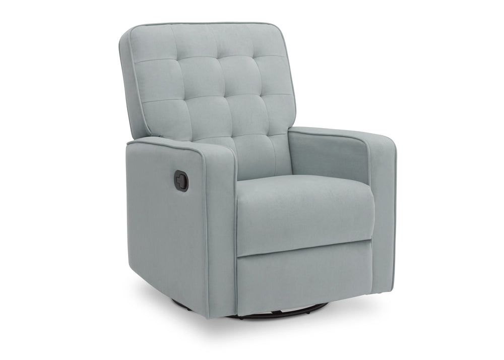 Delta Children Mist (934) Gavin Nursery Glider Swivel Recliner, Right Silo View