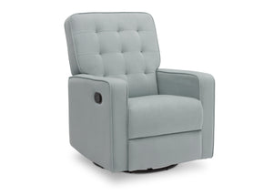 Delta Children Mist (934) Graham Nursery Glider Swivel Recliner, Right Silo View
