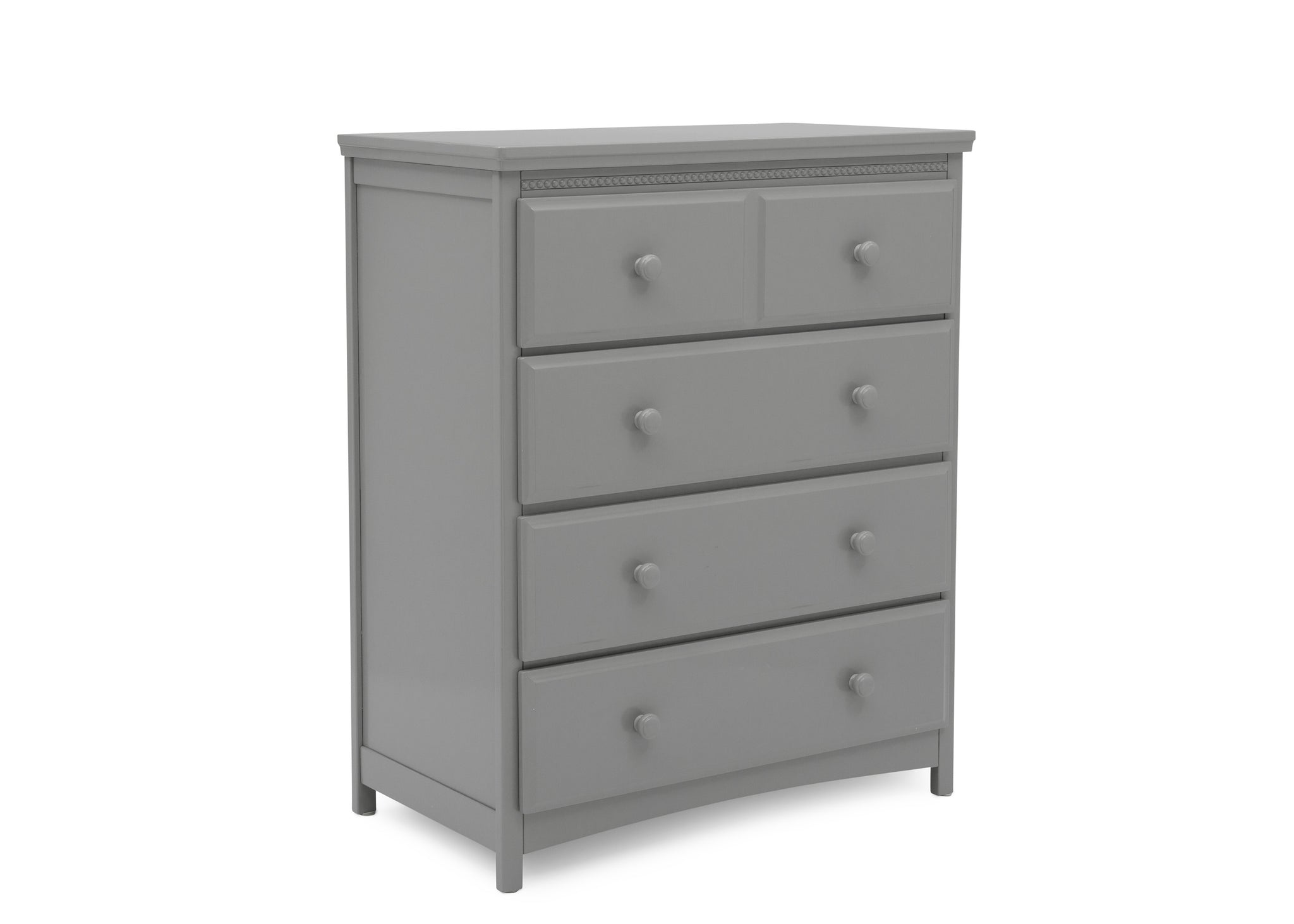 Delta Children Grey (026) Emerson 4 Drawer Chest, Right Silo View
