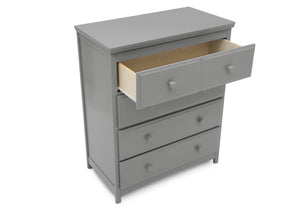 Delta Children Grey (026) Emerson 4 Drawer Chest, Open Drawer View