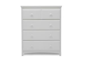 Delta Children Bianca White (130) Emerson 4 Drawer Chest, Front Silo View