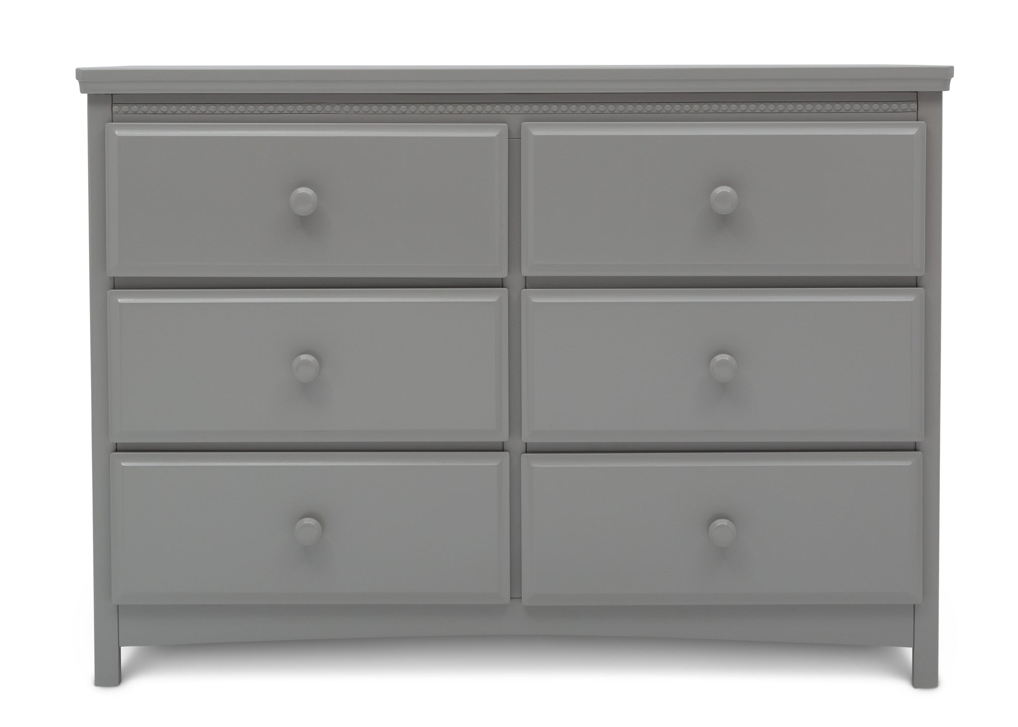 Delta Children Grey (026) Emerson 6 Drawer Dresser, Front Silo View