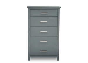 Simmons Kids Charcoal Grey (029) Avery 5 Drawer Chest, Front Silo View