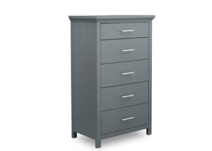 Simmons Kids Charcoal Grey (029) Avery 5 Drawer Chest, Right Silo View
