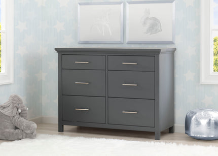 Simmons Kids Charcoal Grey (029) Avery 6 Drawer Dresser with Changing Top, Room View